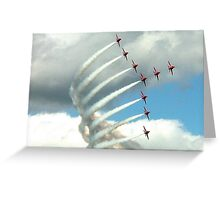 Arrows Swan Formation Greeting Card