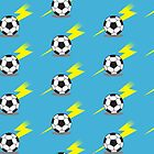 Football Soccer ball with a lightning bolt by jazzydevil