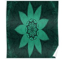 Eye of the Teal Flower Poster