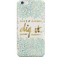 Dig It – Gold & Turquoise iPhone Case/Skin