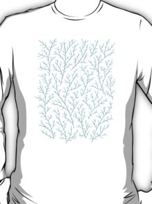 Red & Turquoise Berry Branches T-Shirt