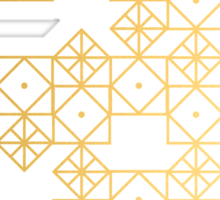Geometric Gold Sticker