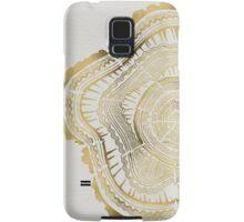 Gold Tree Rings Samsung Galaxy Case/Skin