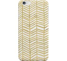 Gold Herringbone iPhone Case/Skin