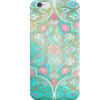Floral Moroccan in Spring Pastels - Aqua, Pink, Mint & Peach iPhone Case/Skin