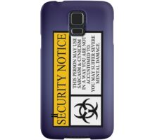 I.T HERO - Security Notice Samsung Galaxy Case/Skin