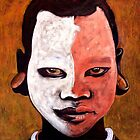 White face Surma boy by Neil Elliott