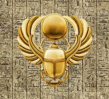 Gold Egyptian Scarab by Packrat