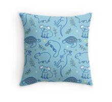 Adorable Aussie Critters - Australian Animals Throw Pillow