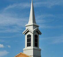 LDS Church Spire Mornington by Tom Newman