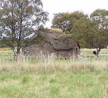 Another angle of the old cottage on Culloden moor by Andy Jordan