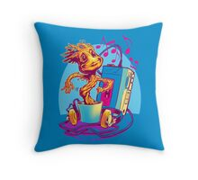 GROOVIN' THROUGH THE GALAXY Throw Pillow