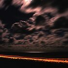 Teewah Beach by Night by Steven  Lippis