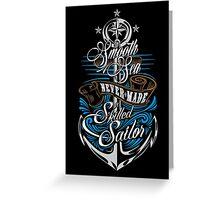 Skilled Sailor Greeting Card