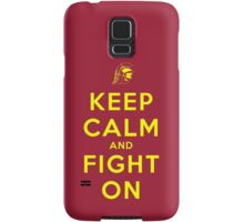 Keep Calm and Fight On (Gold Letters) Samsung Galaxy Case/Skin