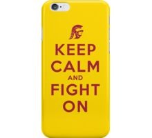 Keep Calm and Fight On (Gold iPhone Case) iPhone Case/Skin