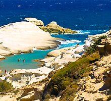Greek Islands ~ Sarakiniko by Mariebel Ferro