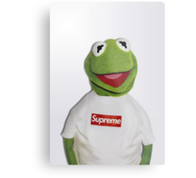 Kermit for Supreme 2 Media Cases, Pillows, and More. Metal Print