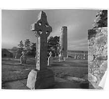 Clonmacnoise Celtic cross 2 Poster