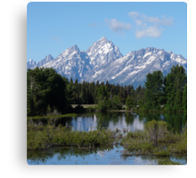 Grand Teton National Park Mountains Canvas Print