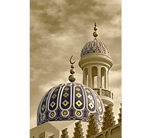 Mosque in Shatti al Qurum, Muscat Photographic Print