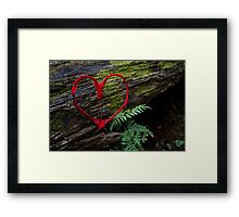 Romance of Nature - Valentine Heart Card / Print Framed Print