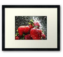 Strawberry Splatter Framed Print