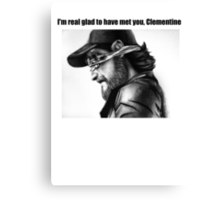 The Walking Dead - Kenny's Parting Words Canvas Print
