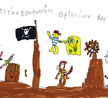 """Captain Piglet, I Found The Treasure Map!"" by Fotis"