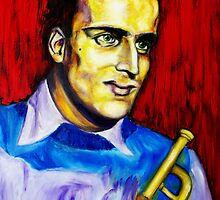Portrait of Boris Vian by Lidiya