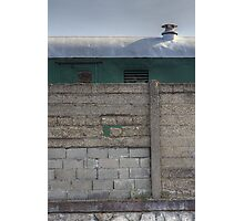 Another Hole in the Wall (and a Green Train) Photographic Print