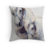 The Boys (harness work horses) Throw Pillow