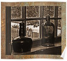 Antique Bottles Poster