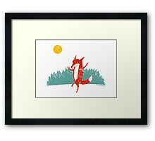 Dancing Fox Framed Print