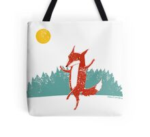 Dancing Fox Tote Bag