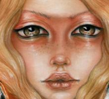 Solstice fox woman portrait Sticker