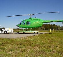 very green helicopter by FLY911
