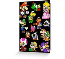 Paper Mario Collection Greeting Card