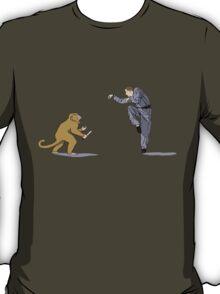 Monkey Fu with Knife (detail) T-Shirt