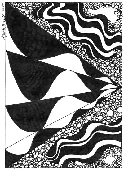Black and White Doodle, Pen and Ink by Danielle J. Scott (Smith)