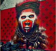Amazonian Indian- street art by Tim Constable