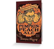Professor Fussy's Pumpkin Peach Ale Greeting Card