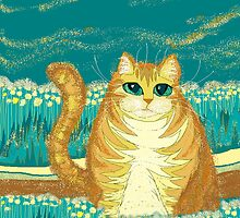 Cat And Pollen by Jean Gregory  Evans