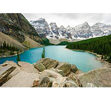 Moraine Lake and the Valley of the Ten Peaks Photographic Print