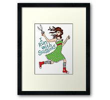 I Run With Scissors Framed Print