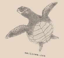 Sea Turtle T-shirt by Carlos Villoch