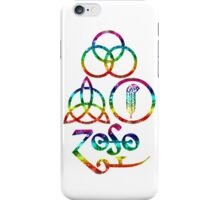 ANCIENT PAGAN ELEMENTS SYMBOLS (L) - rainbow grunge - NEW iPhone Case/Skin