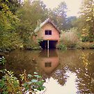 Boathouse reflection by karenlynda