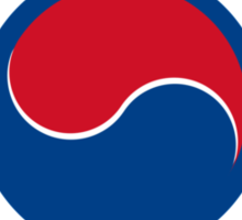 Roundel of South Korea Air Force, 1950s-2000 Sticker