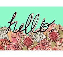 Hello 2. Photographic Print